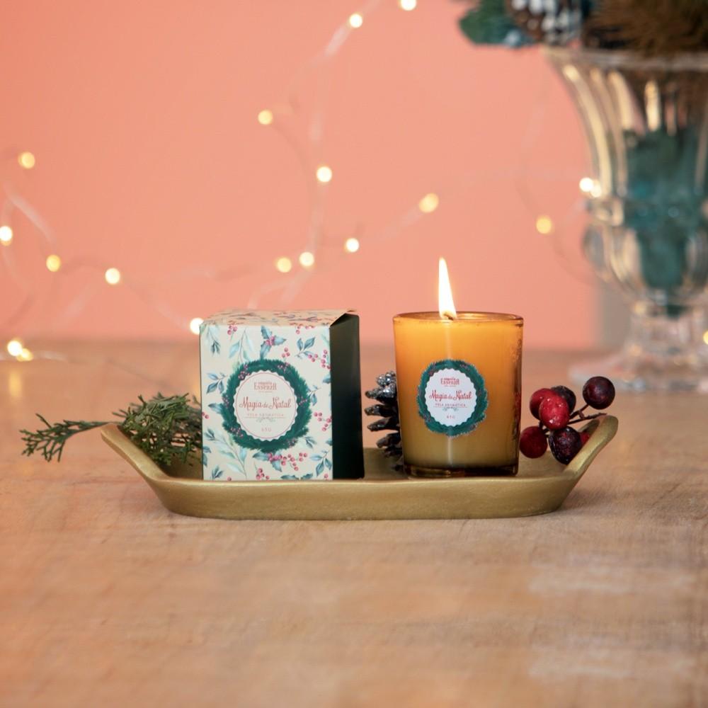 Mini Vela Aromática Magia de Natal 65g