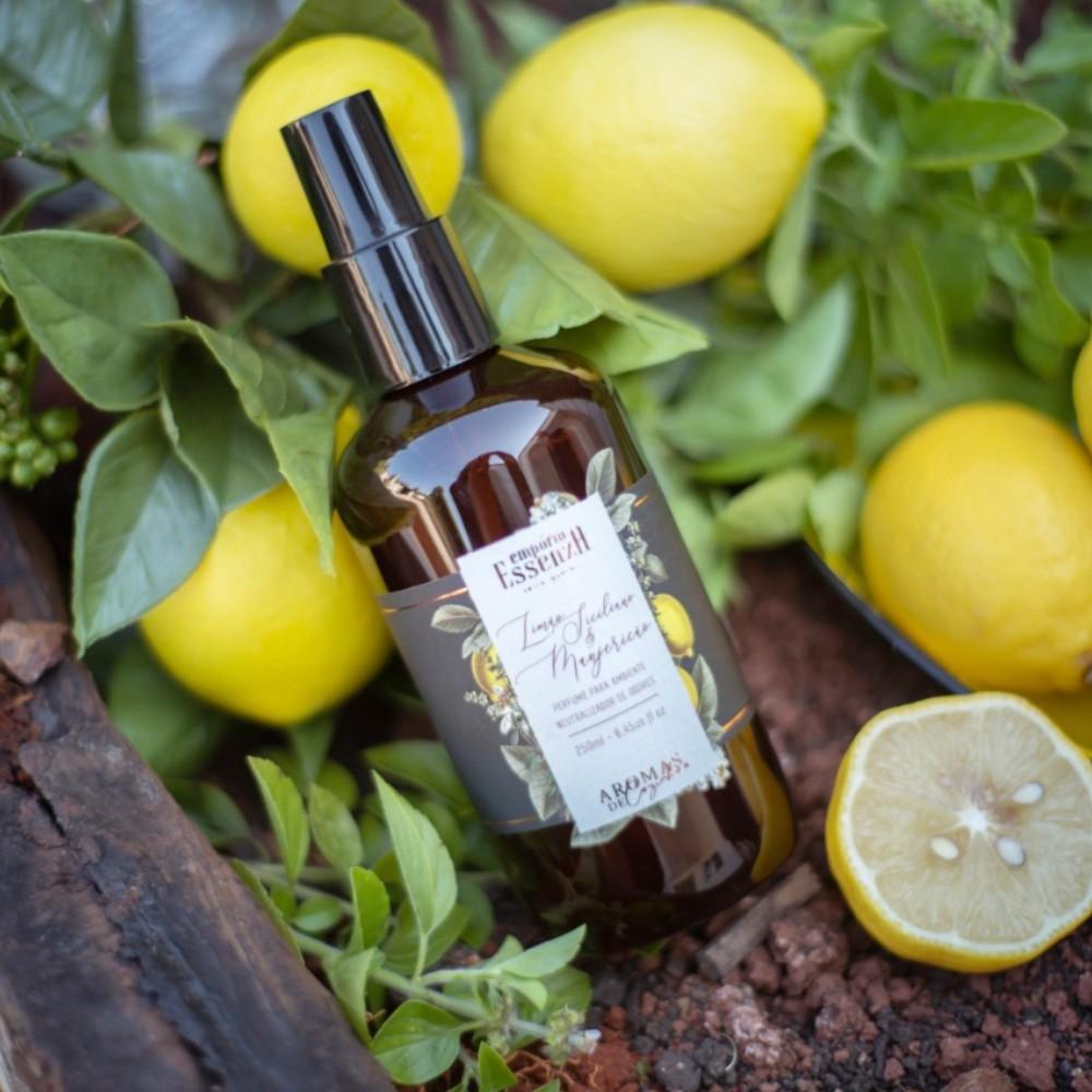 Perfume para Ambientes Limão Siciliano e Manjericão 250ml