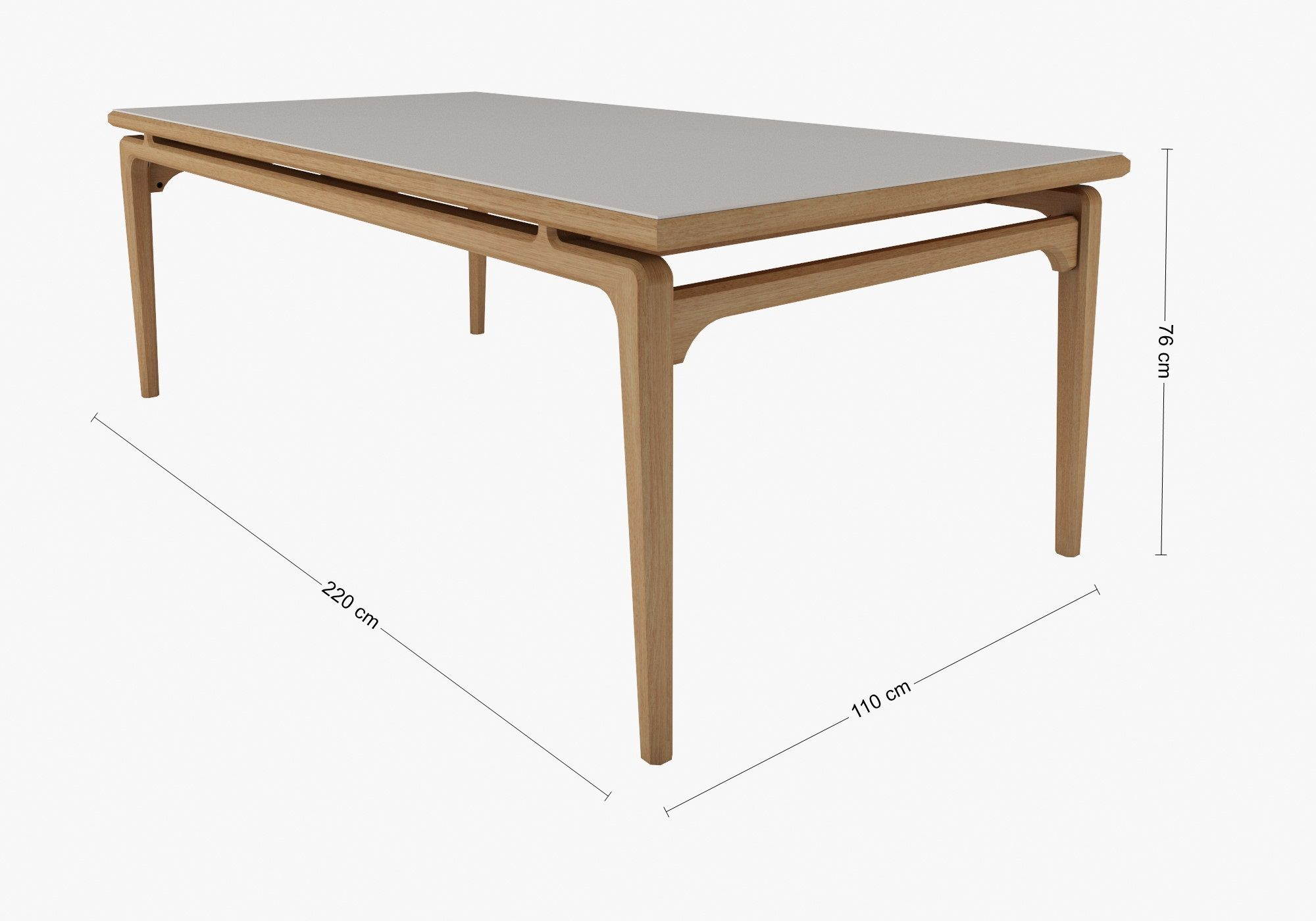 Mesa de Jantar Urubici 2,20 x 1,10