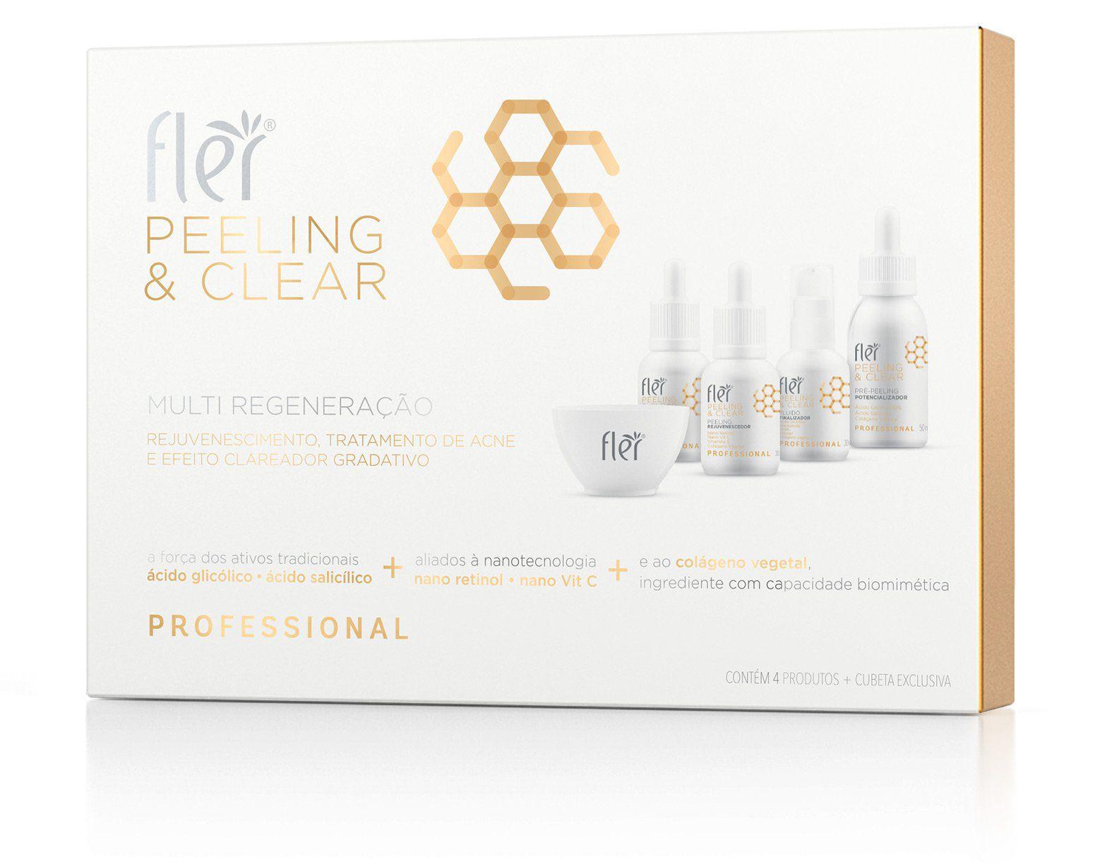 Kit Multi Regeneração Peeling e Clear Flér