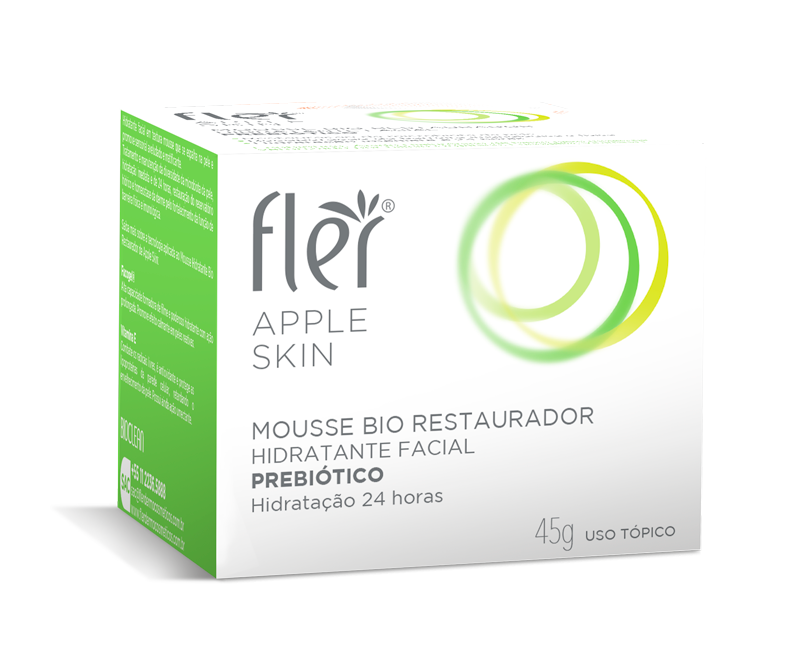 Mousse Bio Restaurador Hidratante Facial com Prebiótico Flér |45g