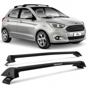 Rack de Teto Travessa Novo Ka 2015 a 2018 Hatch Sedan Preto New Wave Eqmax