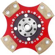 Disco Embreagem Cerâmica 4 pastilhas sem molas Gol MI Parati 1.0 AT 8v 16v 97 a 2002, Gol G2 G3 G4 1.0 97 a 2008 Ceramic Power