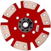 Disco Cerâmica 6 pastilhas sem molas Opala, Caravan 4 cil. e 6 cil. até 1973 Estrias Grossas Ceramic Power