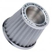 Filtro de Ar Esportivo Monofluxo Maxfilter Race Chrome Prata