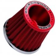 Filtro de Ar Esportivo Monofluxo Maxfilter Race Chrome Vermelho