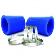 Kit Mangote Para Filtro de Ar Esportivo Race Chrome Azul