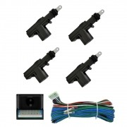 Kit Trava Elétrica 4 Portas Universal Dupla Serventia (KTE4P)