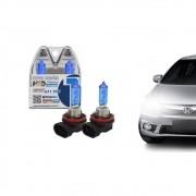 Par Lâmpada Super Branca H11 8500k 55w X-Brightness Efeito Xenon - Tech One