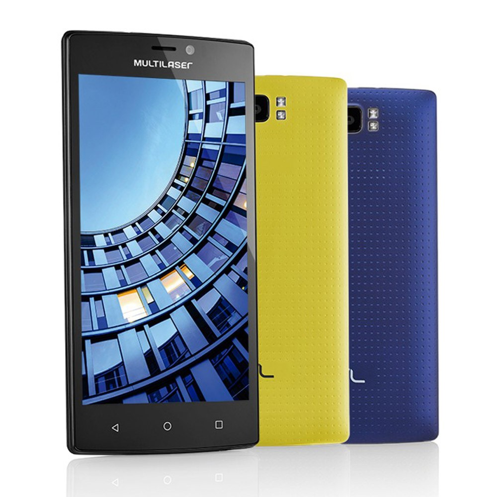 Celular Smartphone Multilaser MS60 Tela 5,5 Polegadas Android 5.1 Memória 16GB Dual Câmera 13 MP e 8 MP + 2 Capas Coloridas P9005
