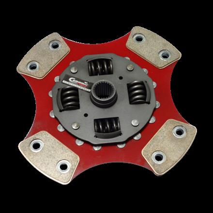 Disco de Cerâmica 4 ou 5 pastilhas com ou sem molas 147 Uno Brio Eletrocic 180mm 17 estrias Ceramic Power