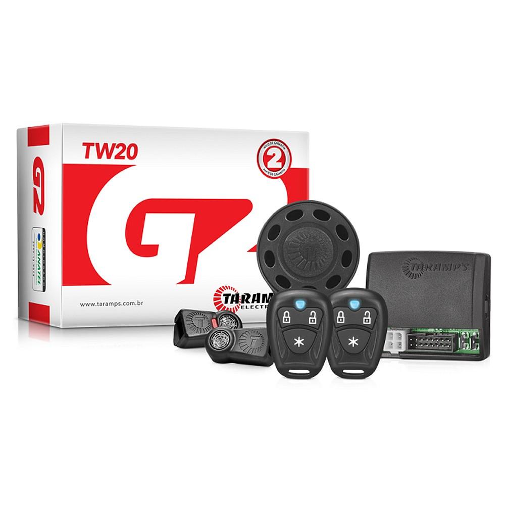Alarme Automotivo Taramps TW20 G2 com 2 Controles TR1
