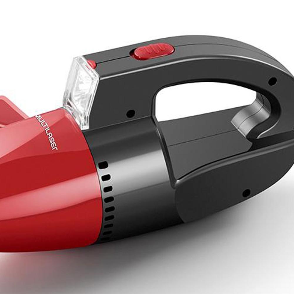 Aspirador de Pó Automotivo Portátil Vermelho Multilaser 12V - AU607 (DA02)