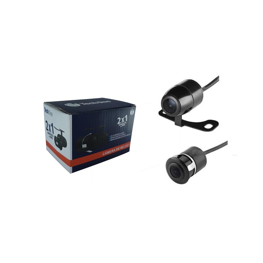 Câmera de Ré Colorida Universal 2 em 1 - Borboleta ou Para-Choque Preta