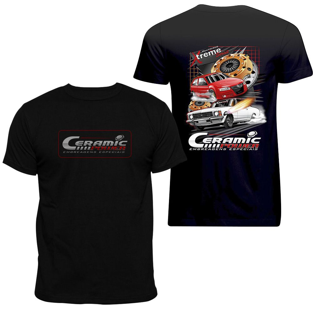 Camiseta Ceramic Power Gol / Opala - Preta GG