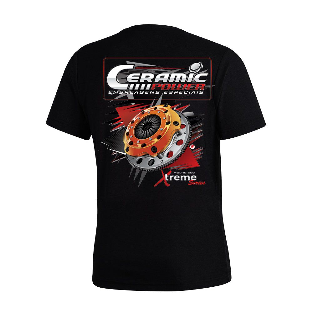 Camiseta Ceramic Power Multidisco Xtreme - Preta GG