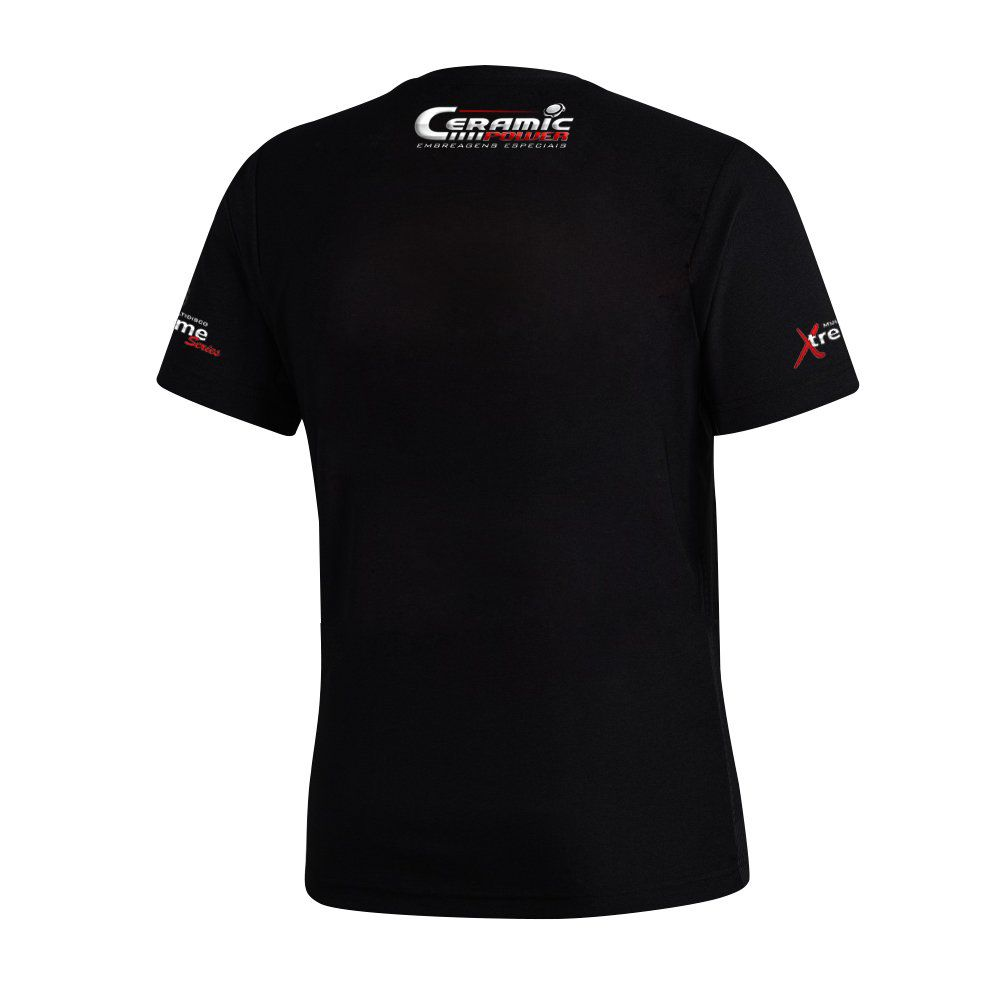 Camiseta Logo Ceramic Power Em Gel - Preta XG