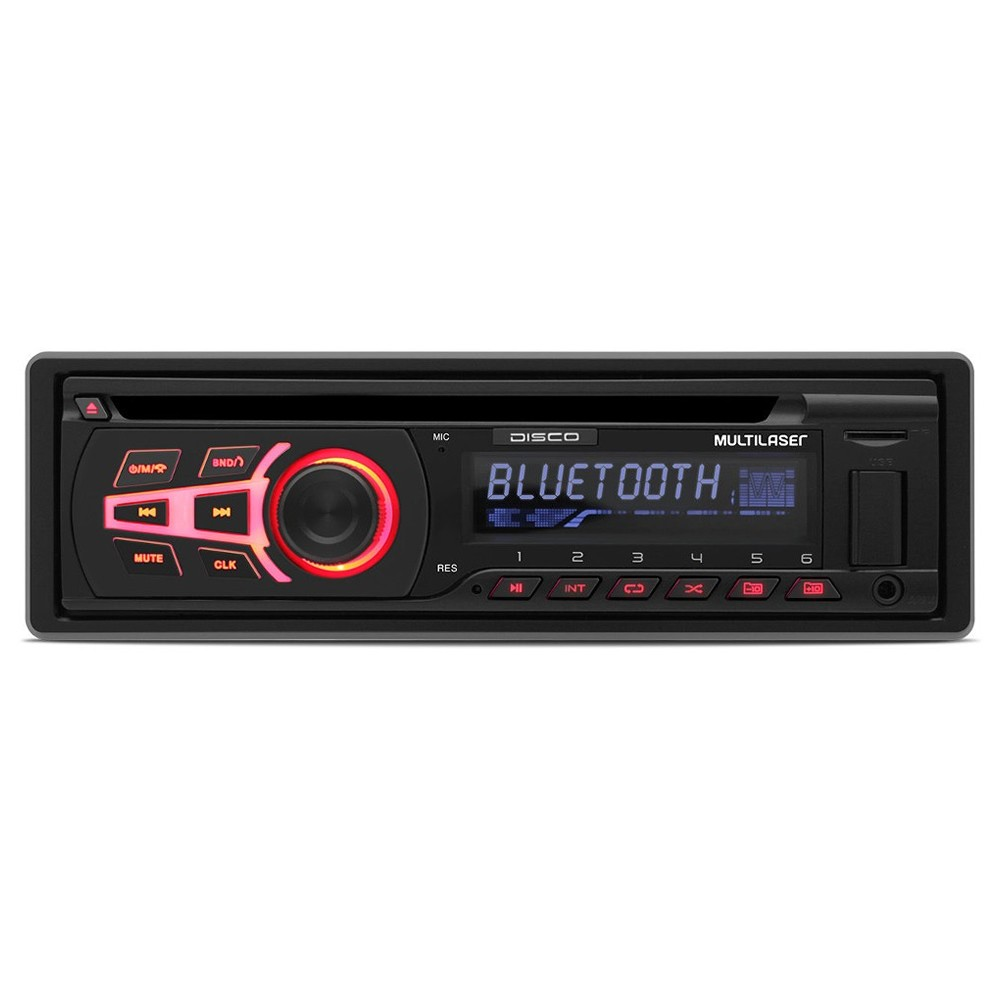CD Player Automotivo Multilaser Disco USB Aux Bluetooth - P3322 (SA04)