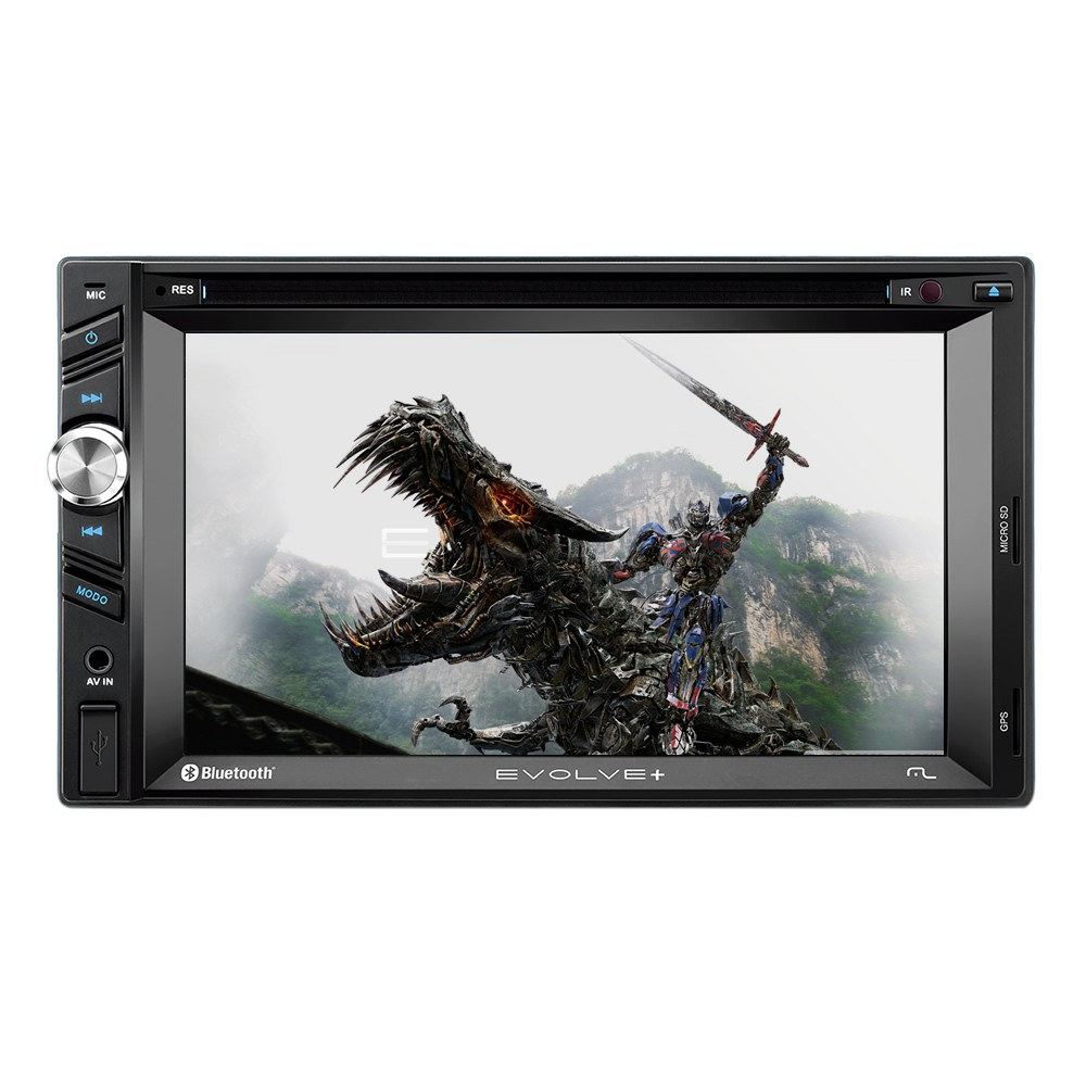 Central Multimídia Multilaser Evolve+ 6,2 Polegadas TV Touch USB SD Bluetooth AUX GPS Espelhamento Celular - GP043 (SA05)