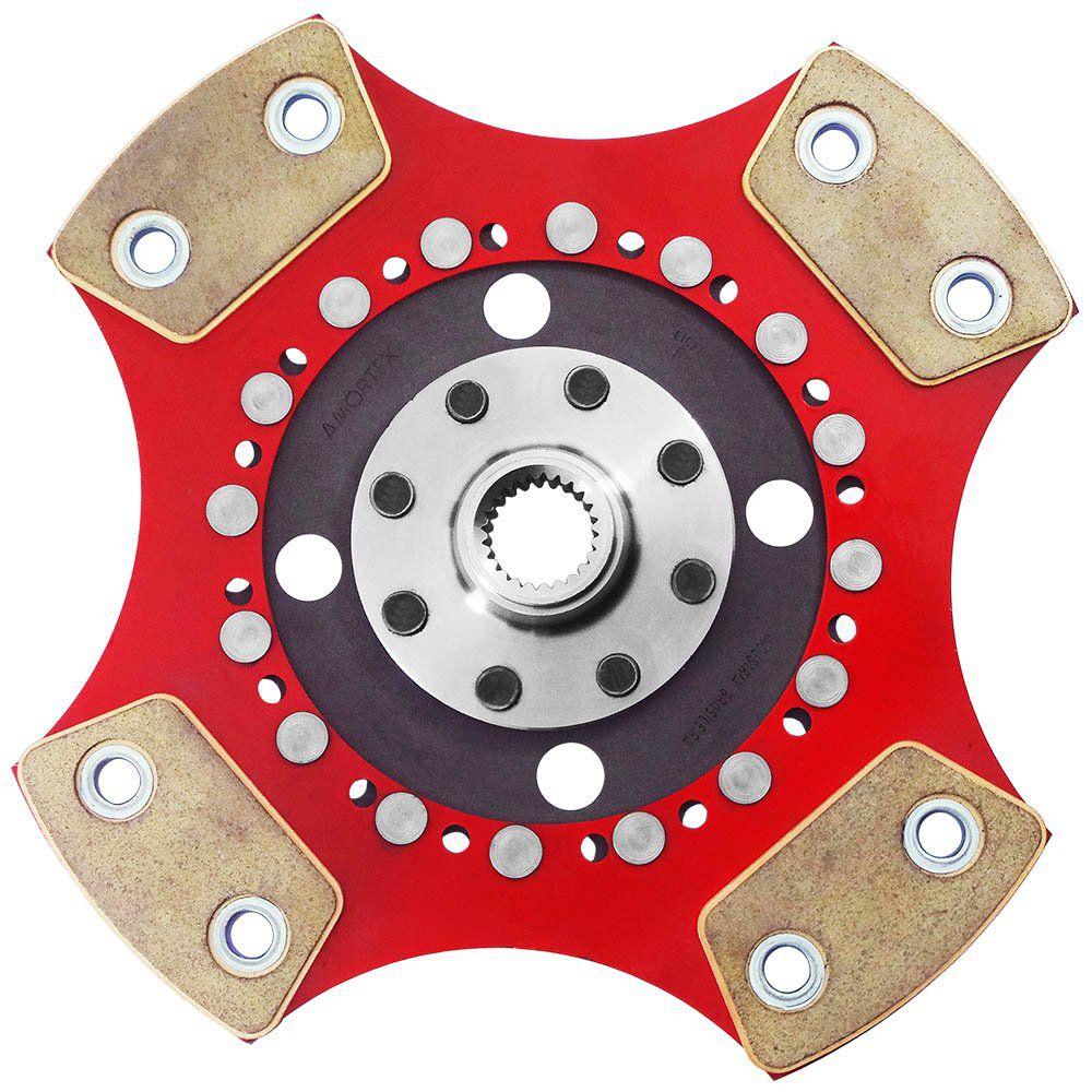 Disco Embreagem Cerâmica 4 pastilhas sem molas Escort Logus Pointer Verona 1.8 2.0, Passat Alemão 2.0, Polo Classic 1.8 Ceramic Power