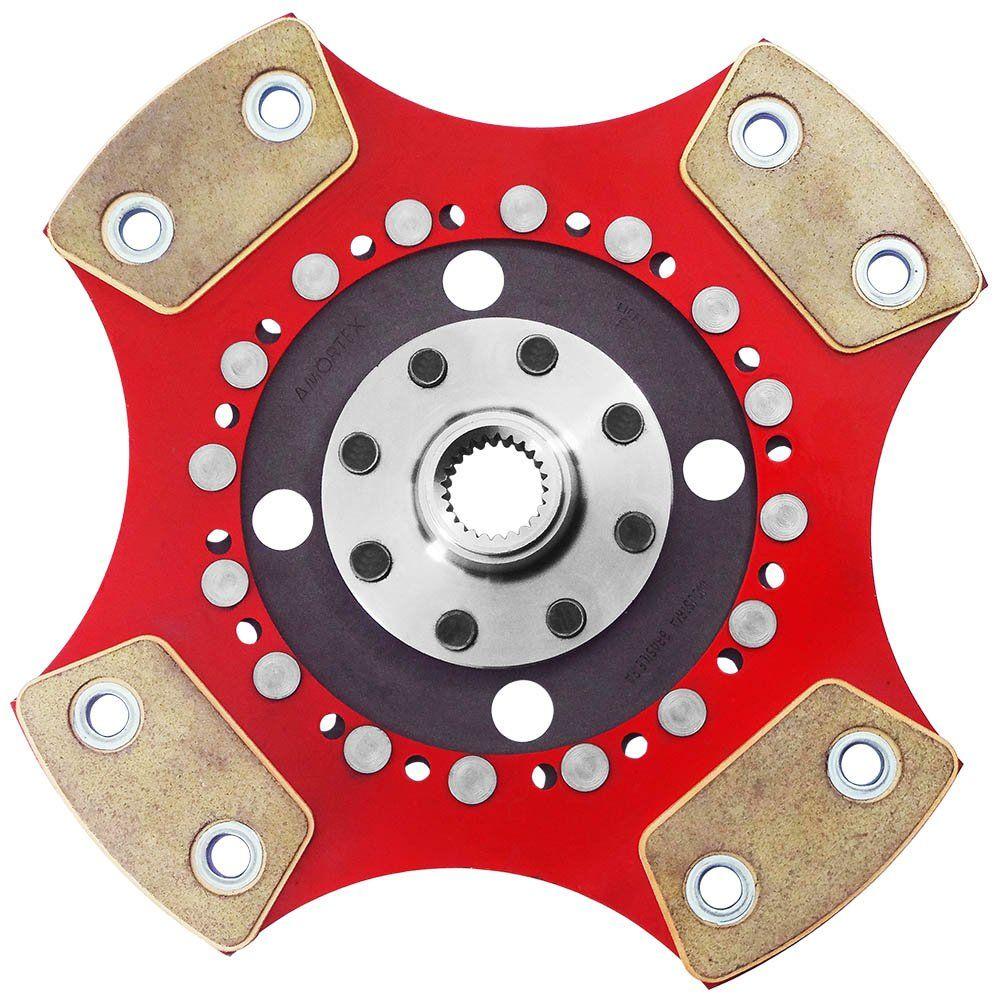 Disco de Cerâmica 4 pastilhas sem molas Corsa e Pick up 1.6 8v 16v Tigra 1.6 16v 200mm 14 estrias Ceramic Power