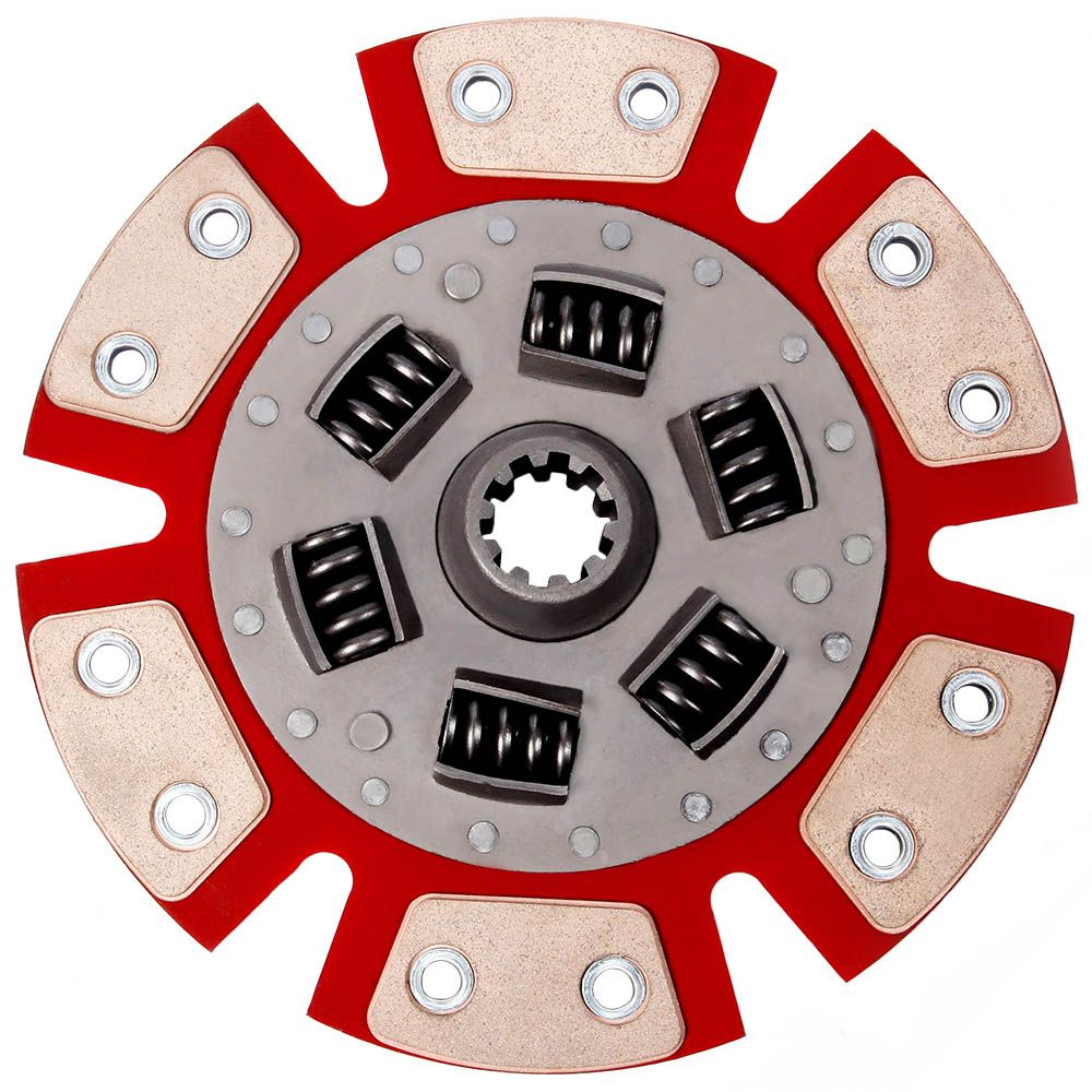 Disco Embreagem Cerâmica 6 pastilhas com molas Opala 4 e 6 cilindros 68 69 70 71 72 73 Estrias Grossas Ceramic Power