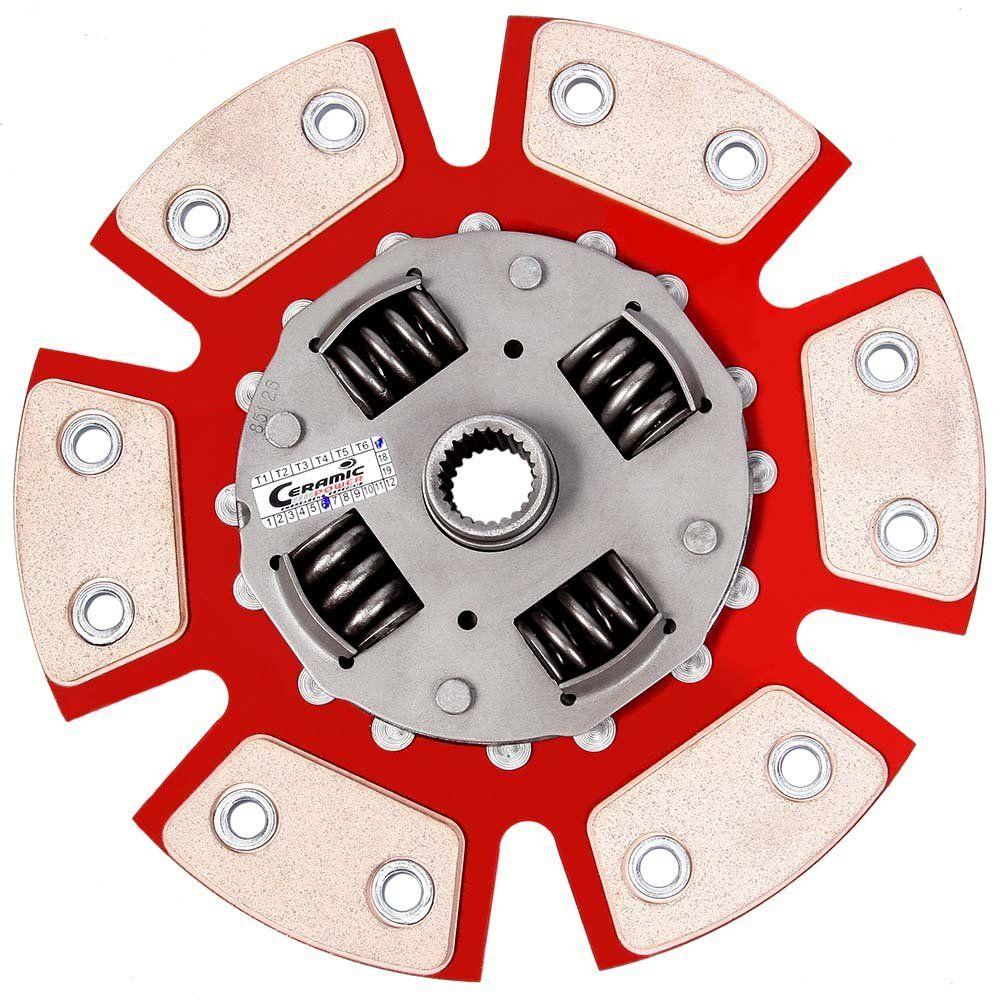 Disco de Cerâmica 6 pastilhas com molas Uno 1.5 1.6 8v até 94 190mm 17 estrias Ceramic Power
