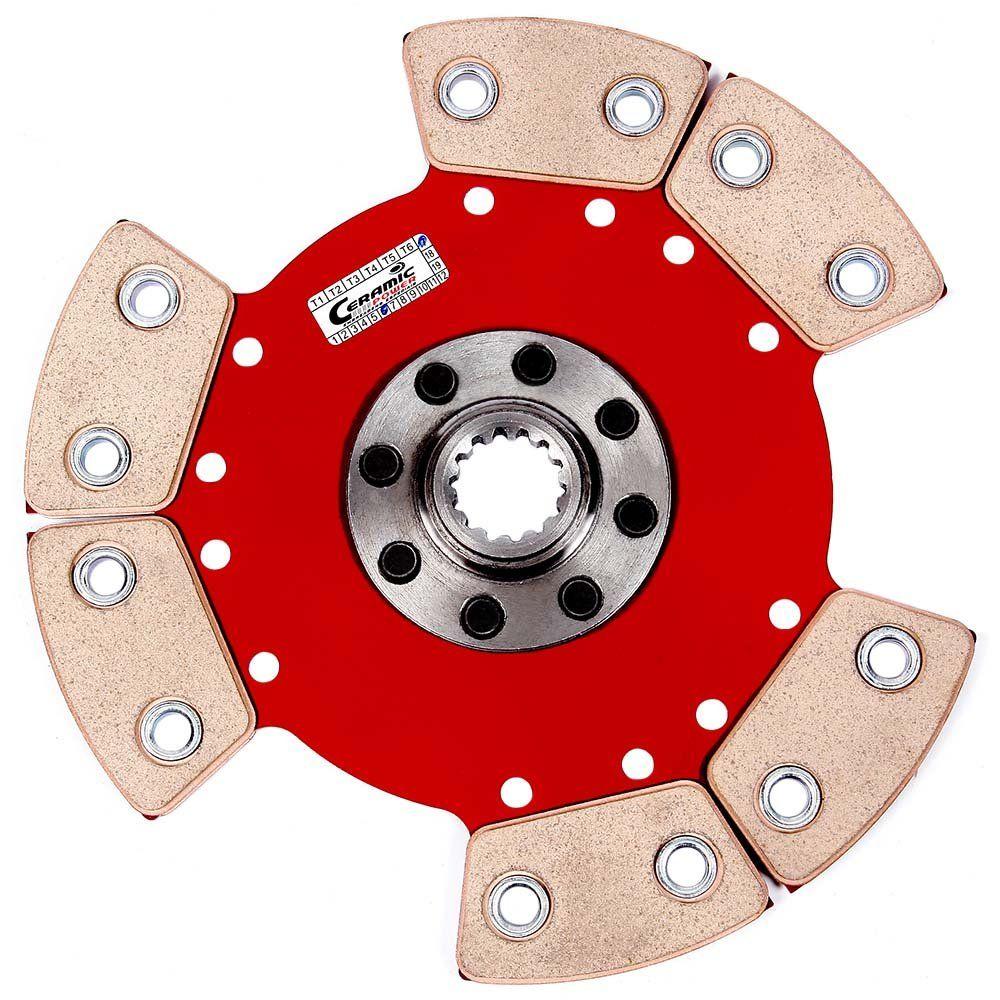 Disco de Cerâmica 6 pastilhas sem molas AP Chevette motor AP com miolo de chevette 14 estrias