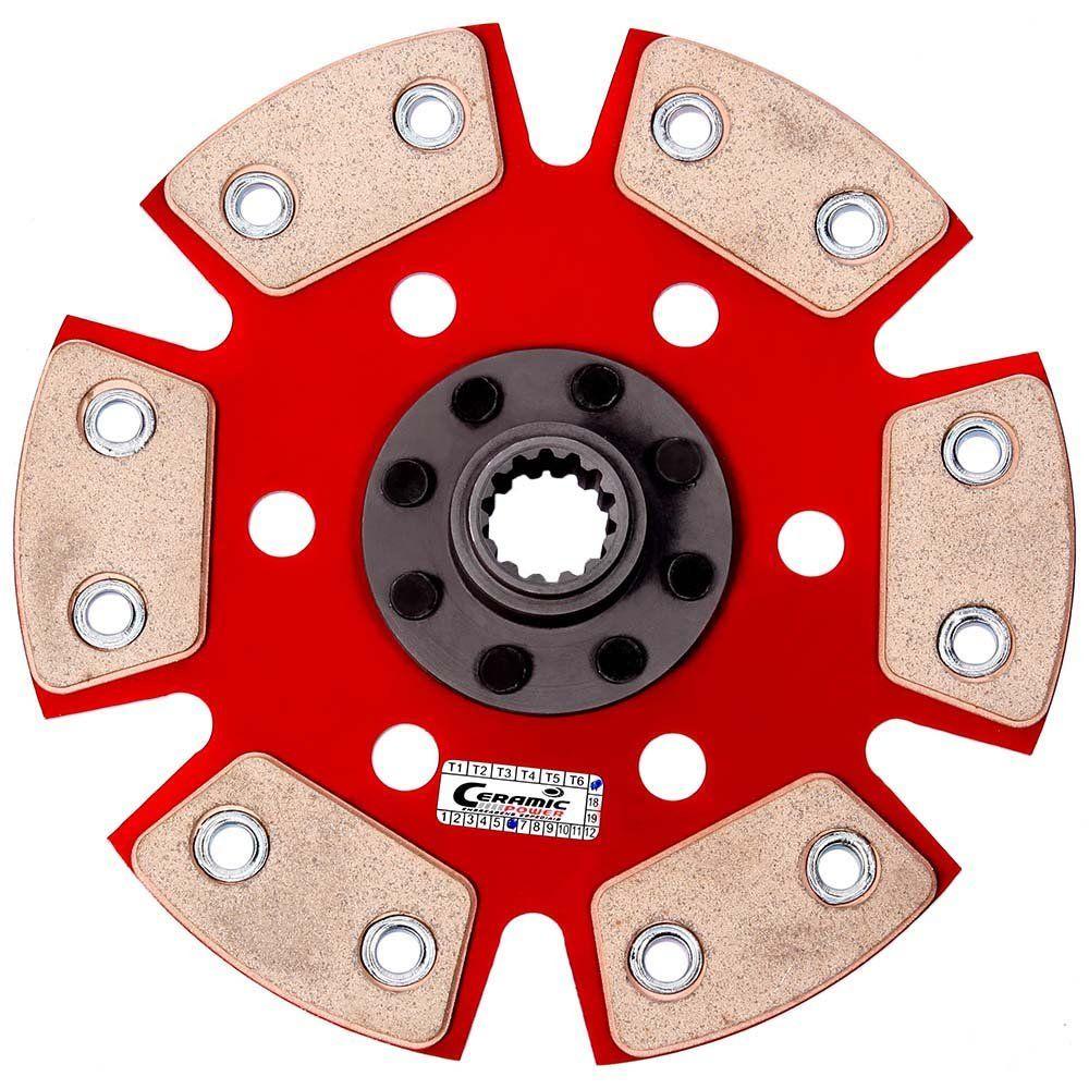 Disco de Cerâmica 6 pastilhas sem molas Chevette 1.0 / 1.4 / 1.6 - 73 a 95, Chevy 500 1.4 / 1.6 84 a 95, Marajó 1.4 / 1.6 80 a 89 Ceramic Power