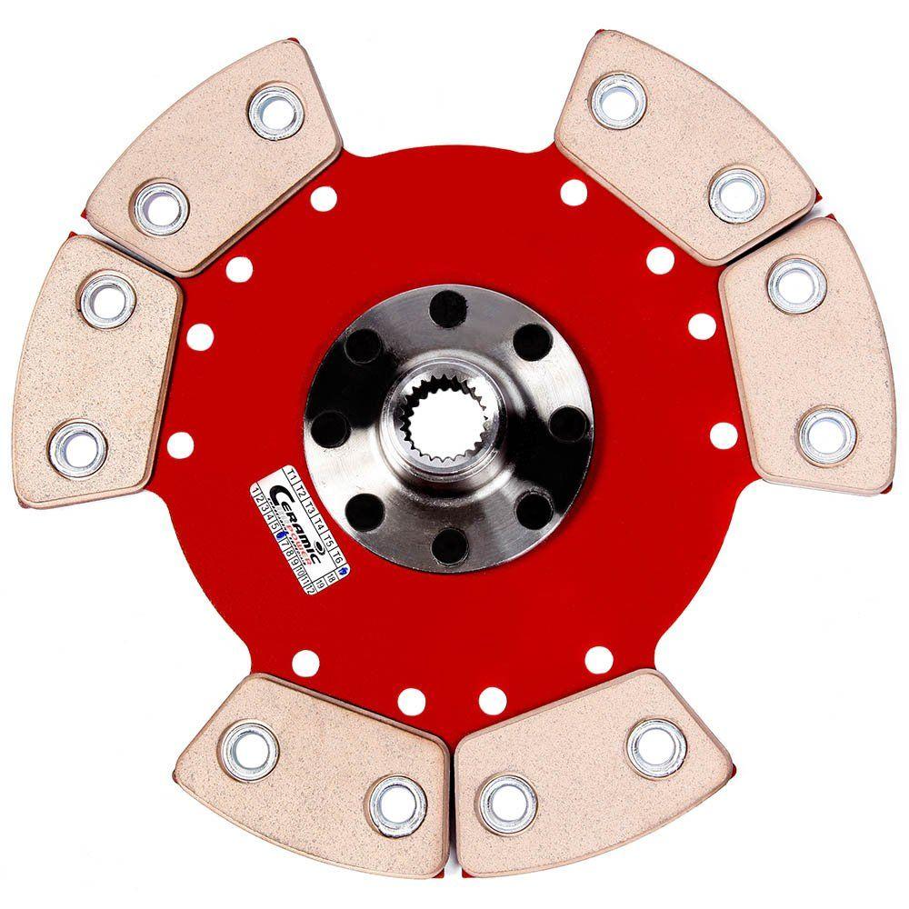 Disco Cerâmica 6 pastilhas sem molas Uno 1.5 / 1.6 86 a 97, Fiorino 1.5 / 1.6 91 a 97, Elba 1.5 / 1.6 86 a 99, Prêmio 1.5 / 1.6 85 a 95 Ceramic Power