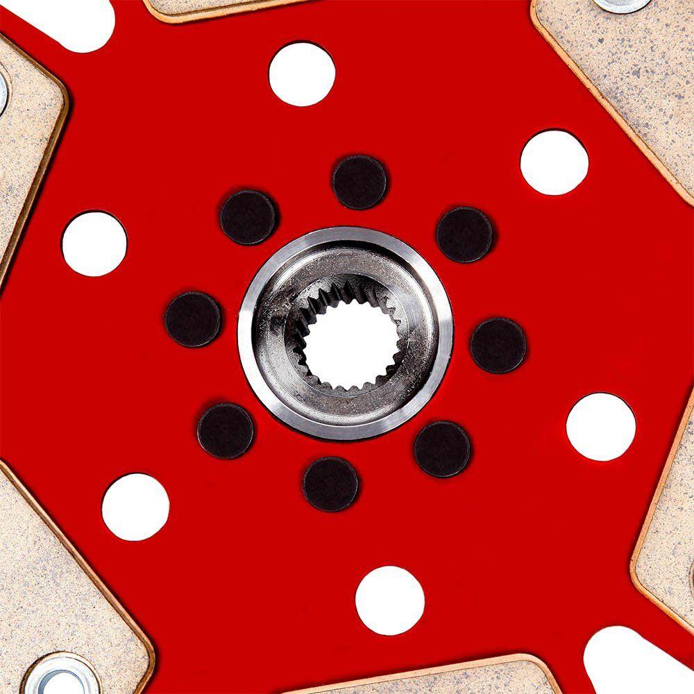 Disco Embreagem Cerâmica 6 pastilhas sem molas Fusca Kombi SP2 1500 1600, Brasília Variant 1600, Gol Saveiro BX 1.6 Ceramic Power