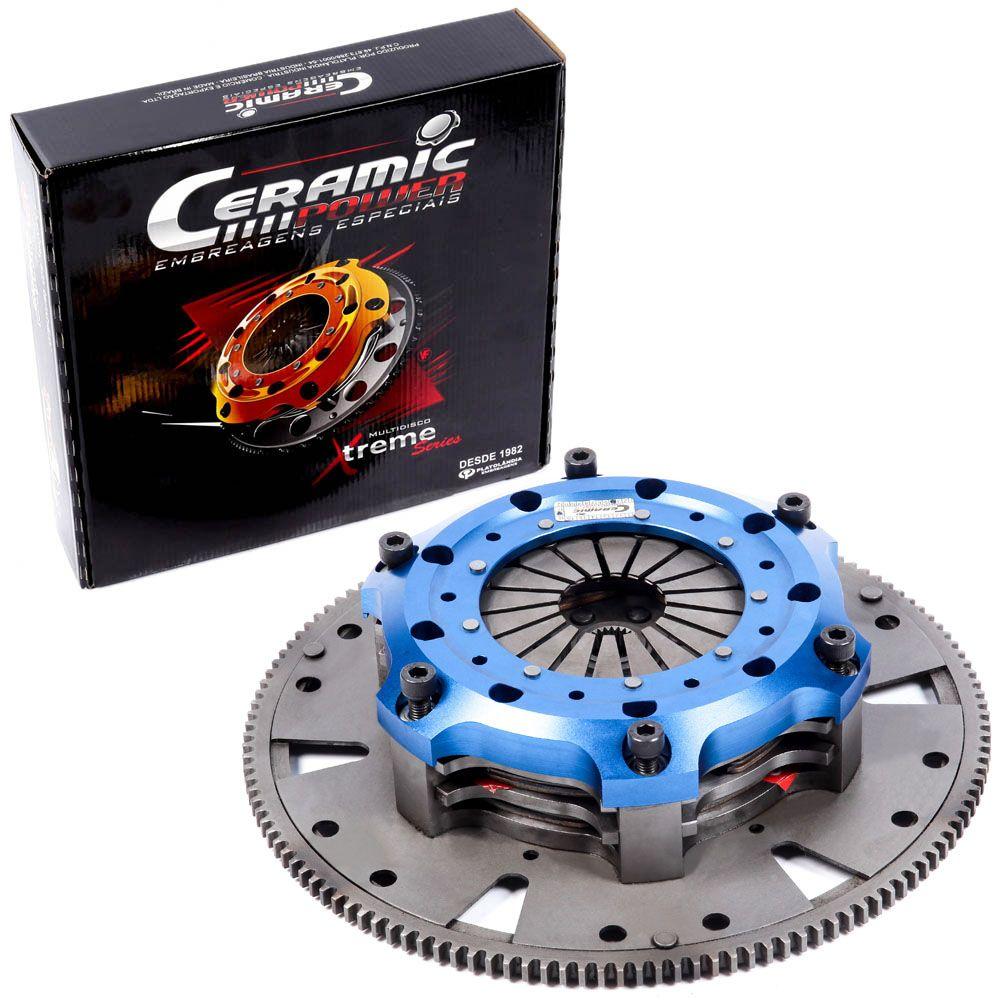 Embreagem Multidisco Xtreme 153 Gol Santana Parati Saveiro Passat Voyage 1.8 e 2.0 motor AP 153mm 24 estrias até 800cv Ceramic Power (M7005-A 153)