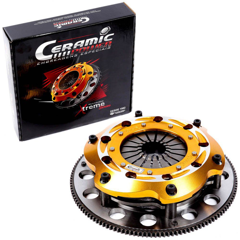Embreagem Multidisco Xtreme Ajustável AP 1.6 1.8 2.0 Gol Parati Saveiro G1 G2 G3 G4 Voyage Santana Passat Ceramic Power
