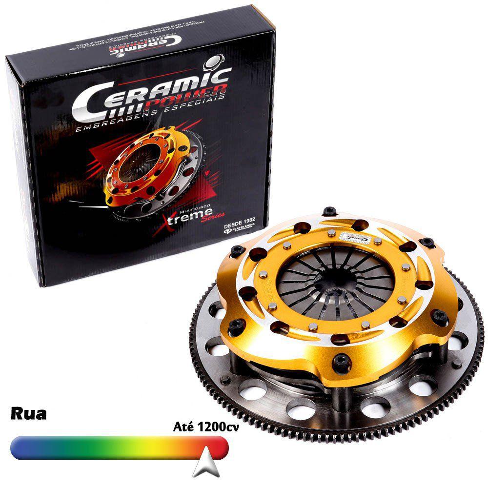 Embreagem Multidisco Xtreme Gold AP 1.8 2.0 Eixo do Câmbio GTI Uso de Rua e Circuito Gol Parati Saveiro Voyage Santana Passat Ceramic Power