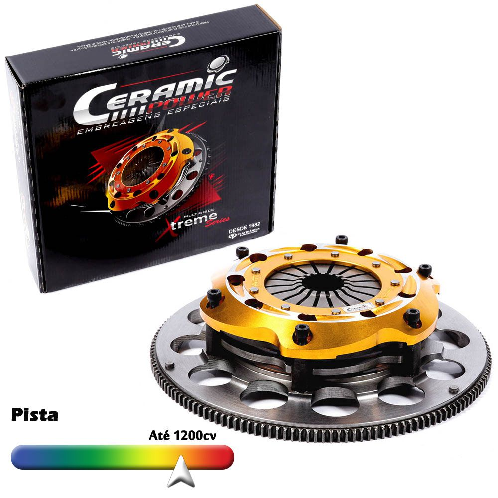 Embreagem Multidisco Xtreme Gold Opala 4 cilindros 2.5, 6 cilindros 4.1 3.8 1968 a 1973 Ceramic Power