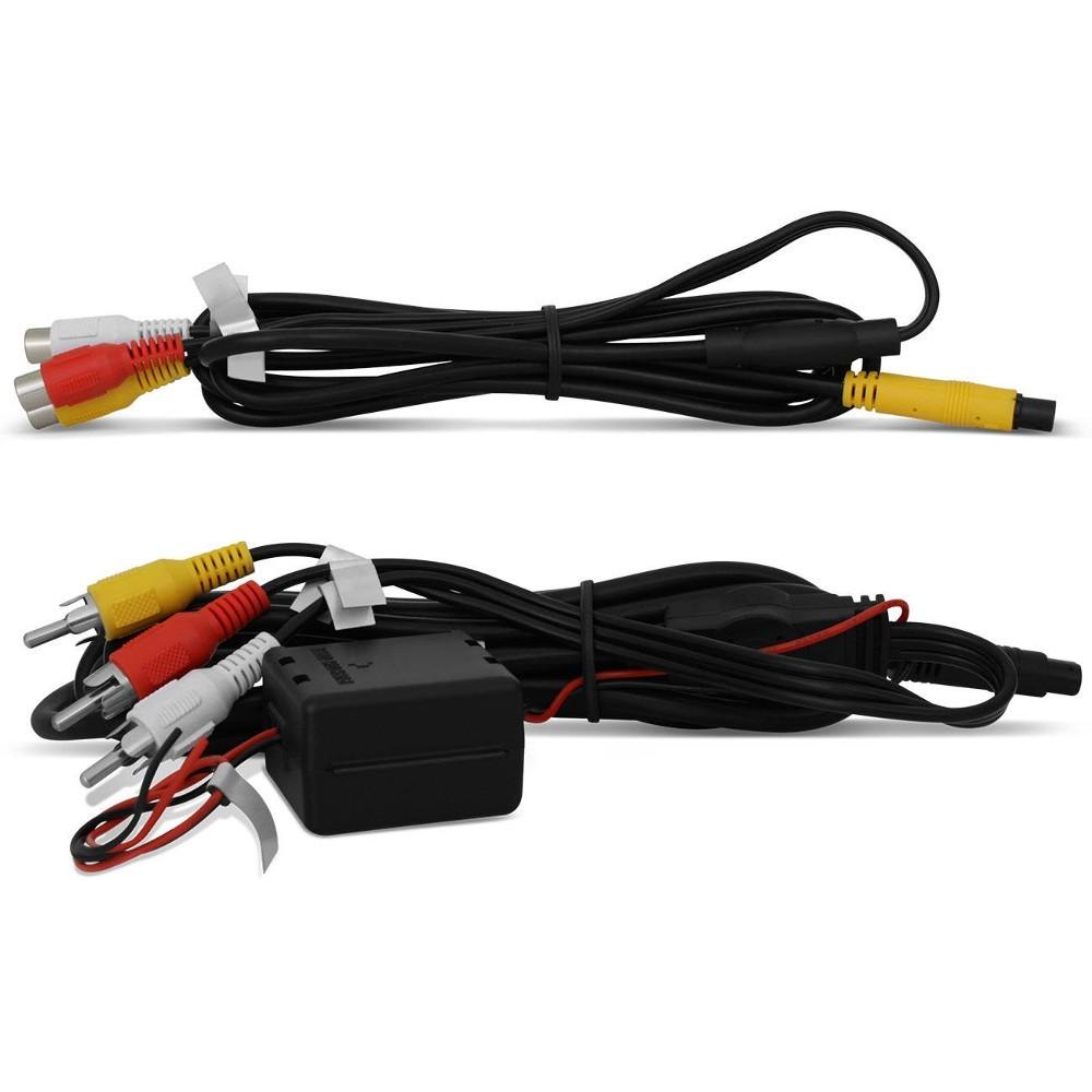 Encosto de Cabeça Com Tela 7 Polegadas Preto Com USB SD e Controle Remoto (EC02)