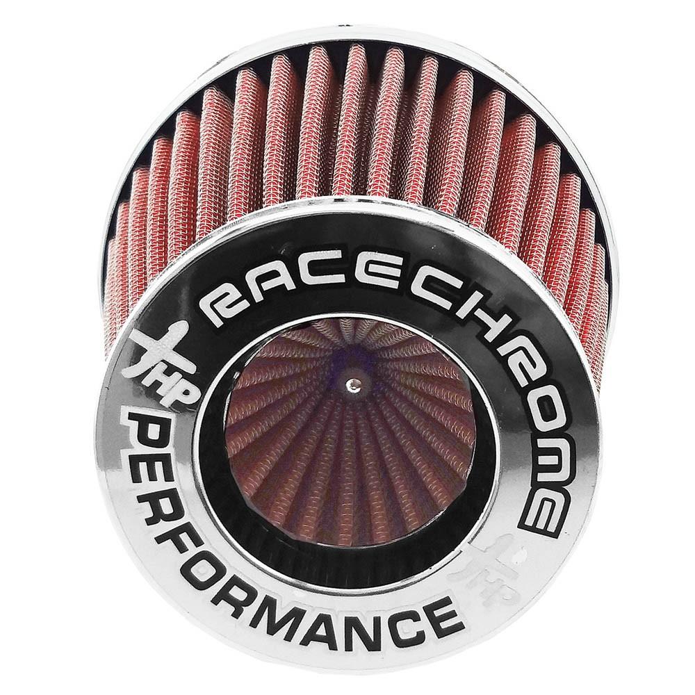 Filtro de Ar Esportivo Duplo Fluxo Race Chrome Médio Vermelho