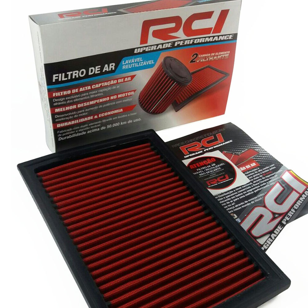 Filtro de Ar Esportivo Golf Audi 1.8 20v 98 a 06 Bora New Beetle 2.0 99 em diante Polo In Box Race Chrome