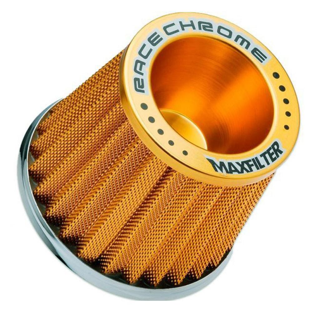 Filtro de Ar Esportivo Monofluxo Maxfilter Race Chrome Dourado