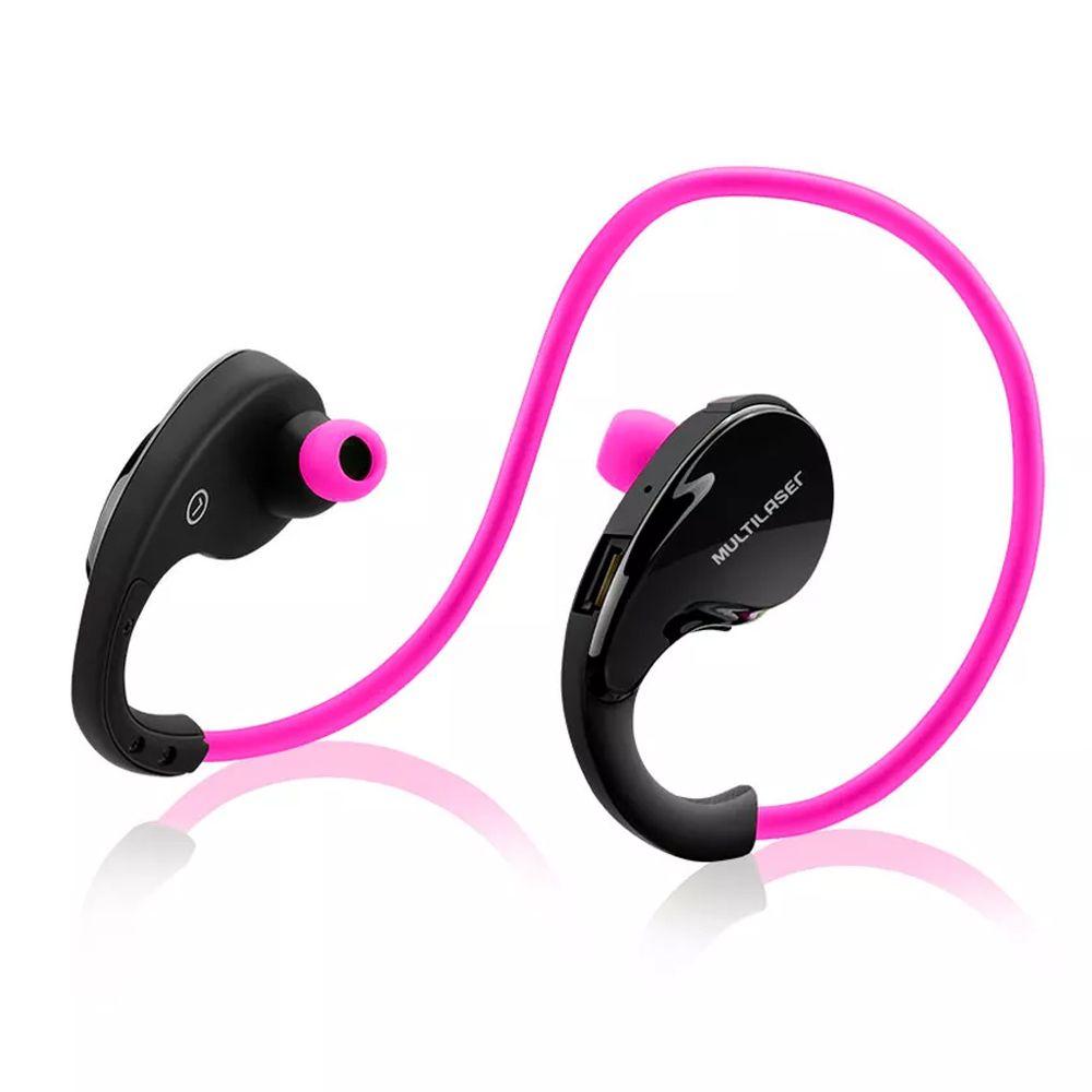 Fone de Ouvido Bluetooth Arco Sport Rosa Multilaser PH183