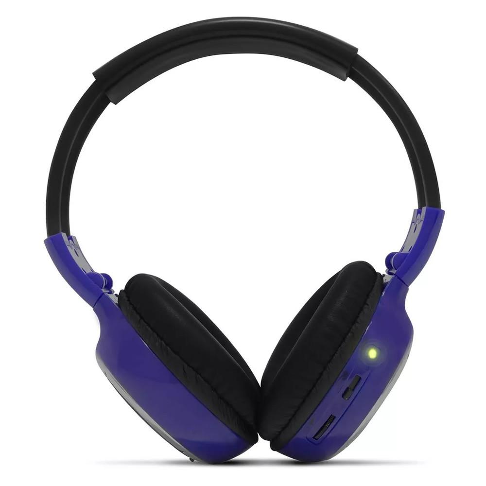 Fone de Ouvido Sem Fio Infravermelho 2 Canais Azul (FN03)