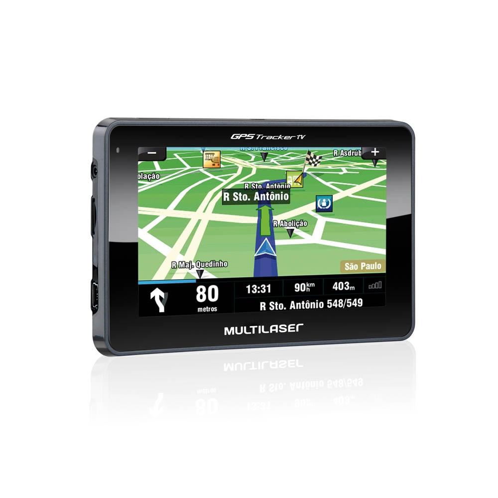 "GPS Multilaser Tracker 3 Tela 4.3"" TV Digital FM - GP034 (GPS02)"
