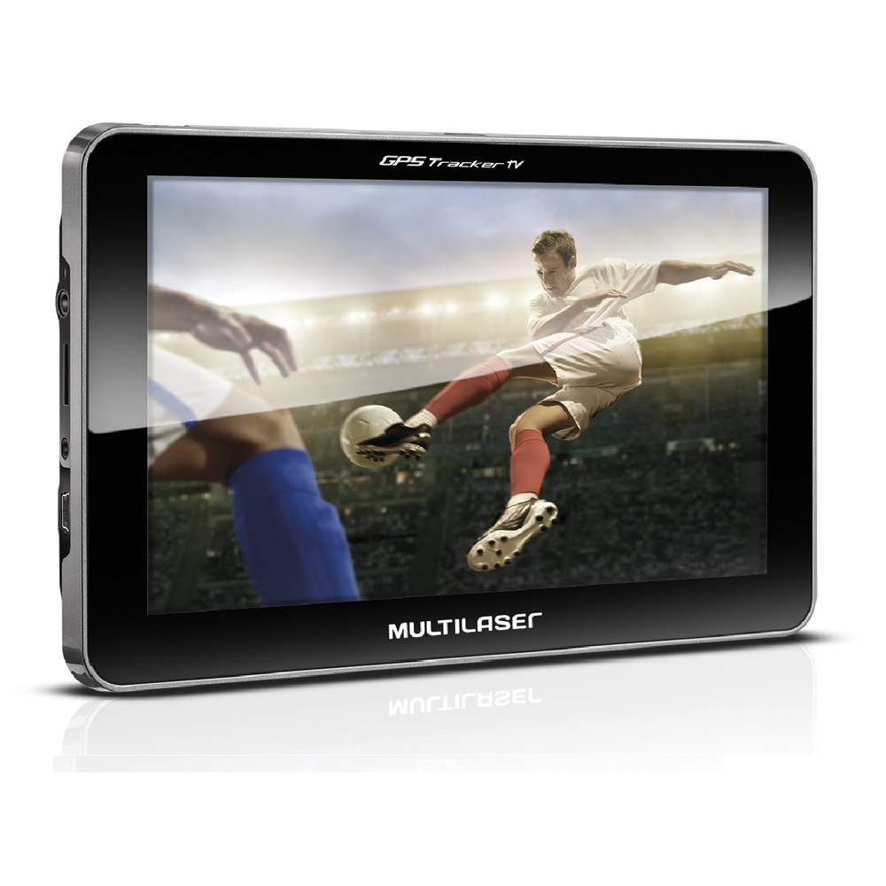 "GPS Multilaser Tracker 3 Tela 7"" TV Digital FM - GP038 (GPS04)"