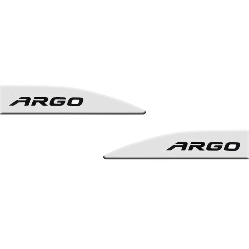 Jogo Friso Lateral Argo Branco Banchisa Slim 4 Peças