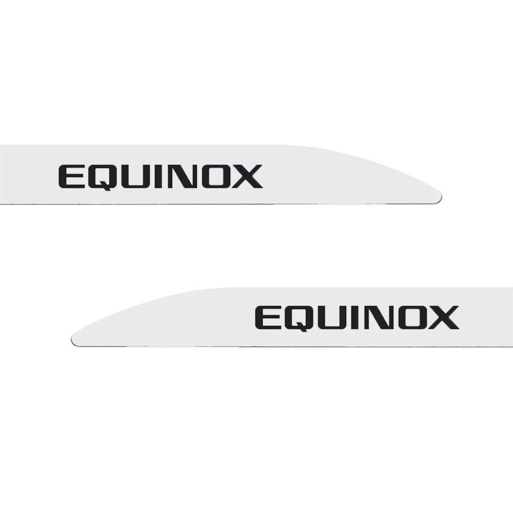 Jogo Friso Lateral Chevrolet Equinox Branco Summit Modelo Facão 4 Peças