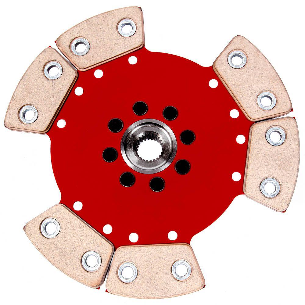 Embreagem de Cerâmica 1200 lb 6 pastilhas sem molas AP 1.8 2.0 Gol Parati Saveiro G1 G2 G3 G4 Santana Voyage Passat Ceramic Power