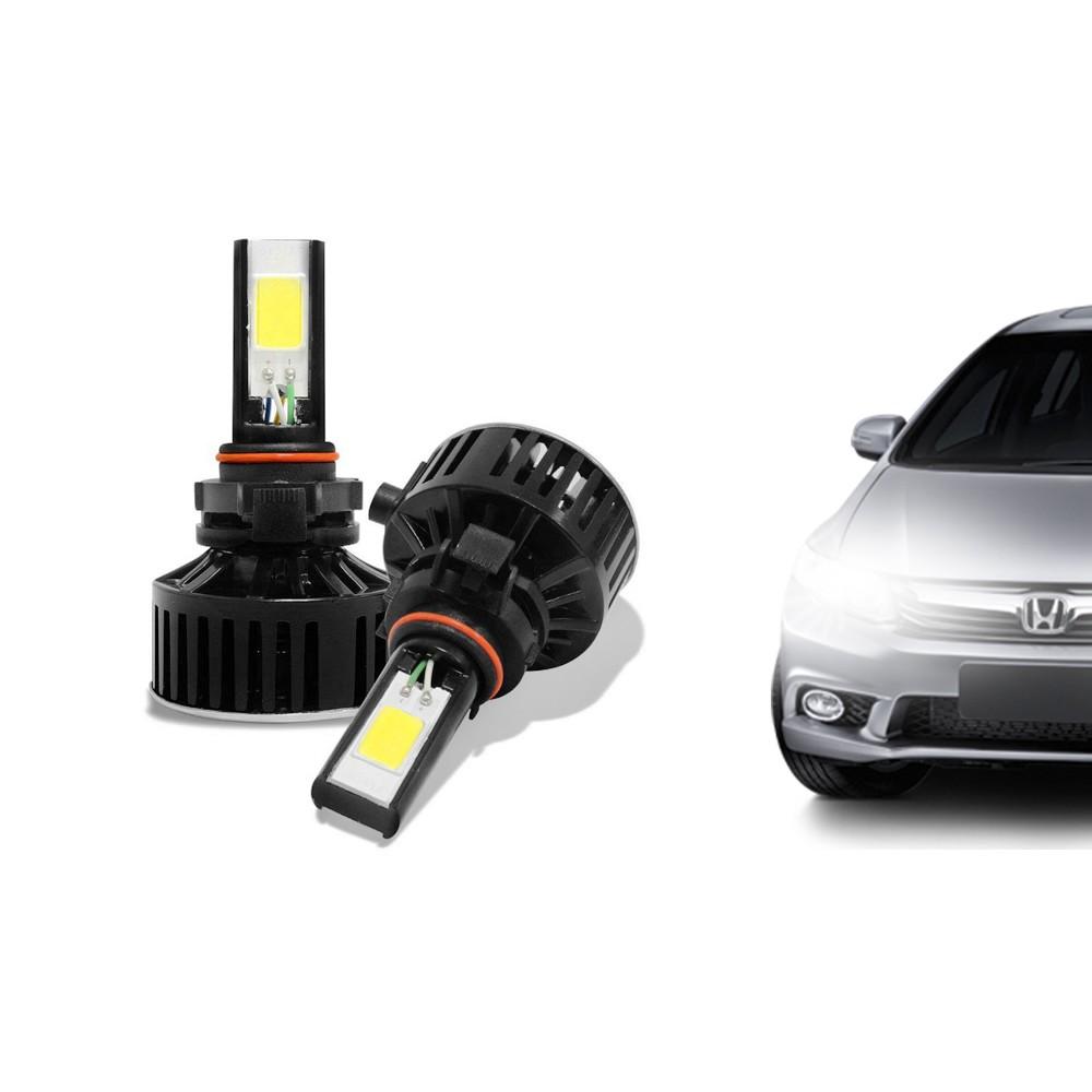 Kit Lâmpada Super LED HB4 (9006) 6000k 12V E 24V 24W 3700LM Efeito Xenon