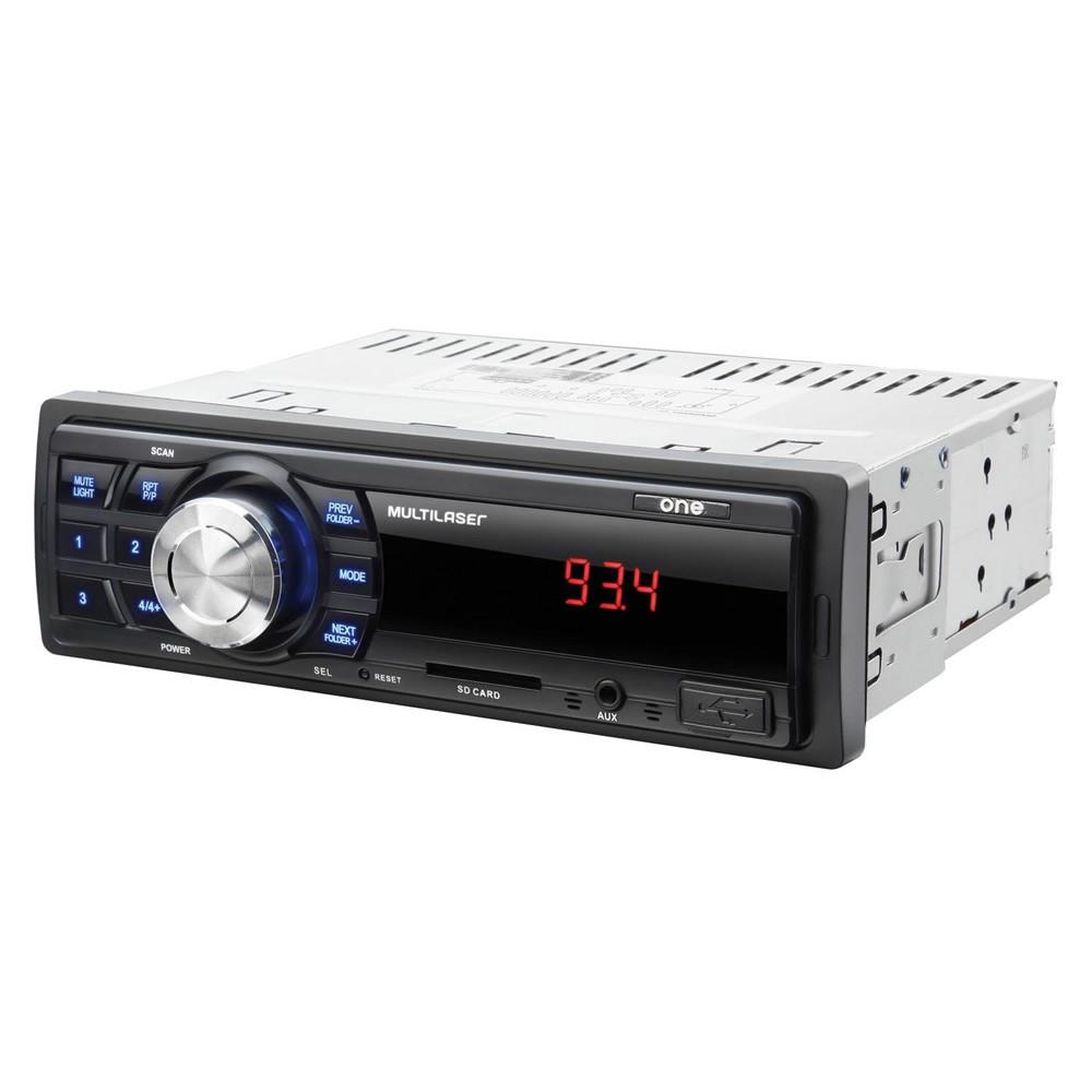 """Kit Som Automotivo Multilaser Mp3 One USB + 1 Par Alto-Falantes 6"""" e 1 Par Alto Falantes 6x9 - AU955 (KSA03)"""