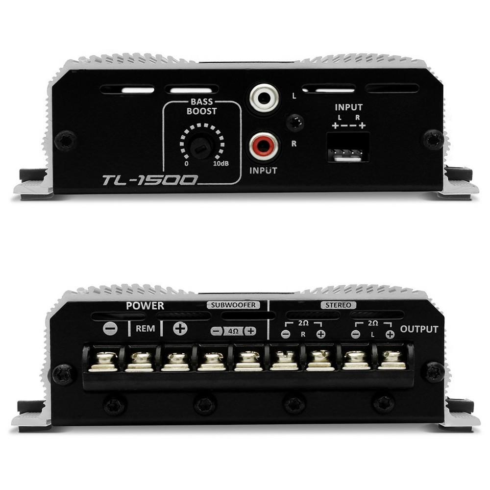 Módulo Amplificador Digital Taramps TL-1500 - 390W RMS 3 Canais 2 Ohms