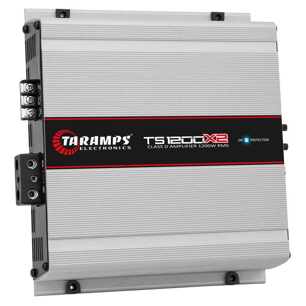 Módulo Amplificador Digital Taramps TS 1200x2 - 1200W RMS 2 Canais 2 Ohms